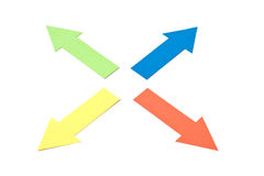 Four arrows Royalty Free Stock Images