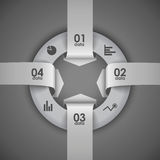 Four arrows going in a circle element infographics Stock Photography