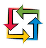 Four Arrows Stock Photography