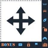 Four arrows icon flat royalty free illustration