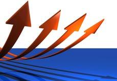 Four arrows soaring Stock Photo