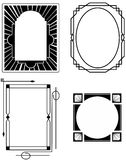 Four Art Deco Frames Stock Image