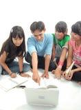 Four Asian student stock photos