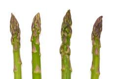 Four asparagus on white Royalty Free Stock Image