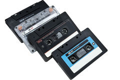 Four audio-cassettes Stock Photo