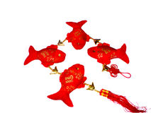 Four Auspicious Fish (Patchwork, puppet or made by Stock Photo