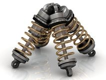 Four automotive shock absorber Royalty Free Stock Photos