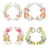 Four autumn frames Stock Images