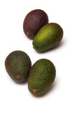Four avocado pears Stock Image
