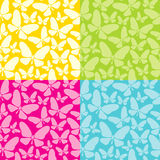 Four background with butterflies