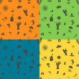 Four Background in Different Colors Royalty Free Stock Photography