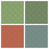 Four backgrounds. Four different classical style backgrounds seamless pattern Stock Images