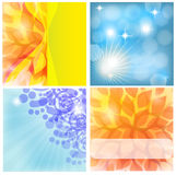 Four backgrounds. Set of vector backgrounds from different elements Stock Photo