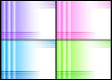 Four backgrounds. Set of four abstract backgrounds in light colours Royalty Free Stock Photo