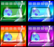 Four backgrounds. Four colorful abstract background for designers to different necessities Royalty Free Stock Photo