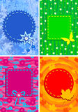 Four backgrounds. All the year round theme. Ready for the text of your choice Royalty Free Stock Image