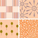 Four backgrounds frowers Royalty Free Stock Photography
