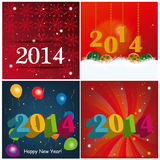 Four backgrounds for new year Stock Image
