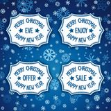 Four badge for event christmas eve Royalty Free Stock Photo