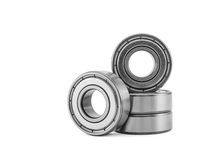 Four ball bearing, isolated on a white background Royalty Free Stock Photos