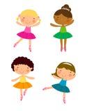 Four ballet dancer Stock Image