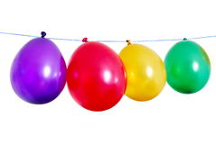 Four balloons Royalty Free Stock Images