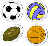 Four balls Royalty Free Stock Photo
