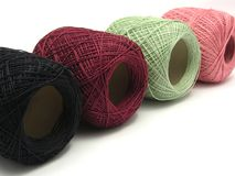 Four balls of wool Royalty Free Stock Photography