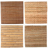 Four bamboo backgrounds stock image
