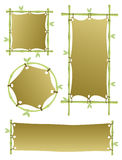 Four bamboo banners Royalty Free Stock Photos