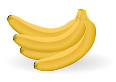 Four bananas Stock Photo