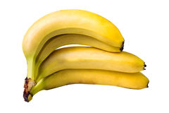 Four bananas isolated on white Royalty Free Stock Photography