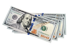 Four banknotes of dollars Stock Image
