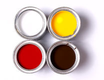 Four banks of paint Royalty Free Stock Image