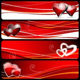 Four banner for Valentine's day Stock Image