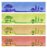 Four banners Royalty Free Stock Photography