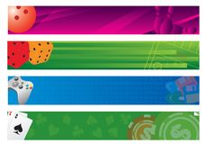 Four banners Royalty Free Stock Images