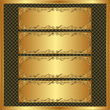 Four banners. Four long banners on brown textured background Stock Photos