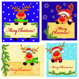Four banners with deer Stock Photography