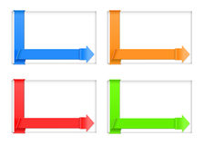 Four banners. Vector four various hue banners, eps10 file, transparency used Stock Photos