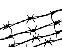 Four barbed wire silhouette Stock Photography