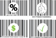 Four barcode Stock Image