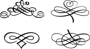 Four Baroque Curves. Stock Photo