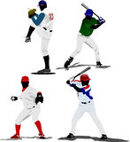 Four Baseball players. Vector illustration Stock Photography