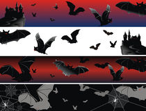 Four bat banners Royalty Free Stock Image