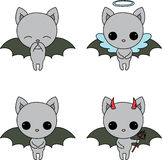 Four bat icons Stock Photos