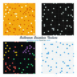 Four bathroom seamless pattern set Stock Photography