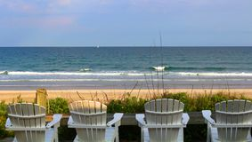 Peaceful beach in North Carolina stock photos