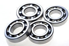 Four bearings. On a white background Royalty Free Stock Image