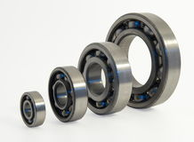Four bearings. Of the different size from stainless steel Royalty Free Stock Images